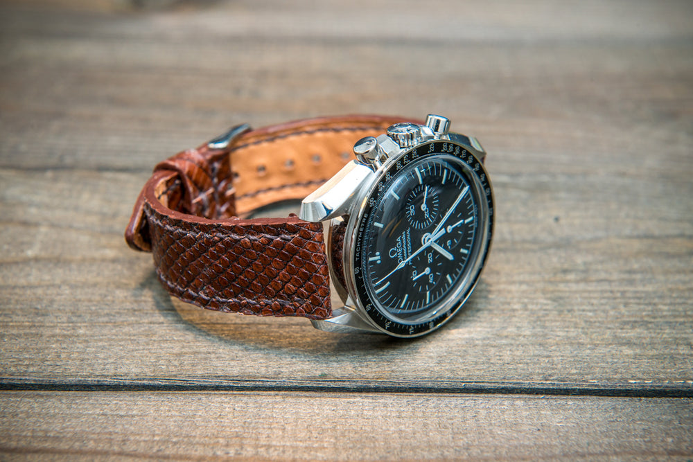 Lizard leather watch strap - finwatchstraps