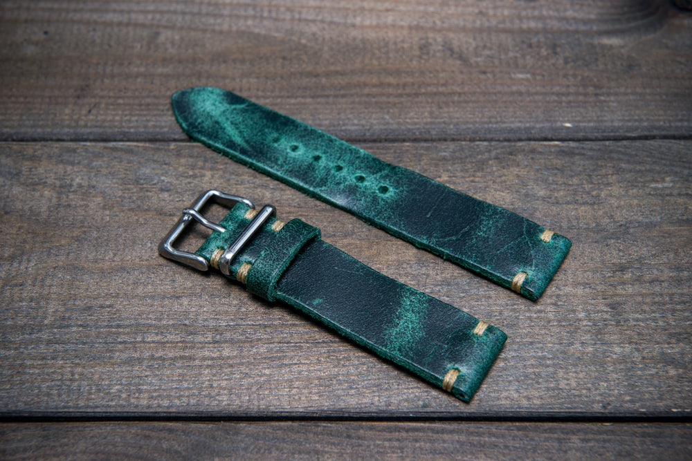 Suede vintage leather watch strap (Crazy cow), handmade in Finland - 10mm, 11 mm,  12 mm, 13 mm,  14 mm, 15 mm, 16mm, 17 mm, 18mm, 19 mm, 20mm, 21mm, 22mm, 23 mm,  24mm, 25 mm, 26 mm.