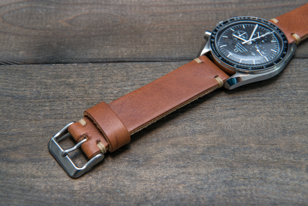 Vachetta Oil Tan (thickness 3 mm), 10-26 mm - finwatchstraps
