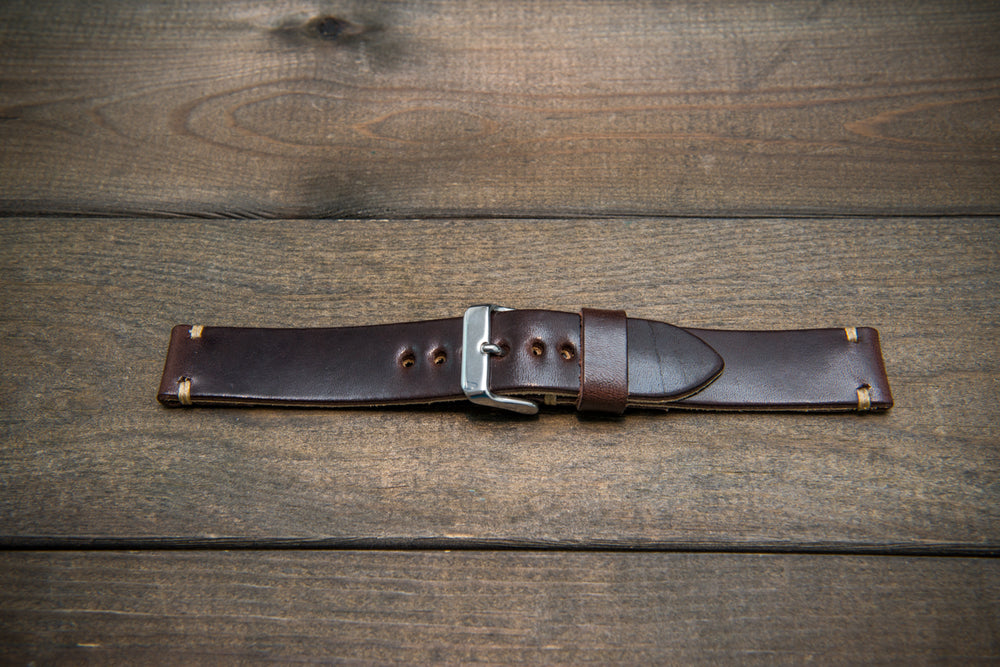 Vachetta leather watch strap, New Oily Moro, 10-26 mm - finwatchstraps