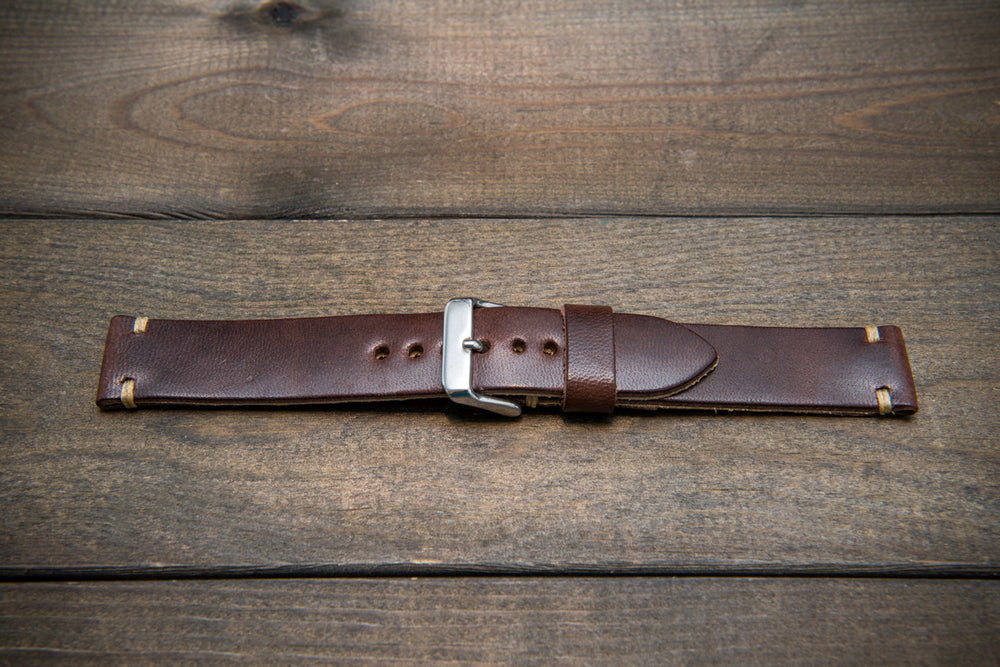Vachetta leather watch strap, New Oily Moro 10-26 mm - finwatchstraps
