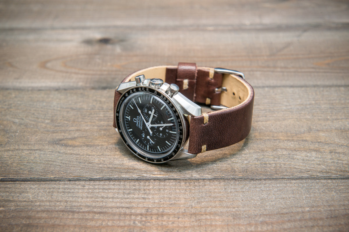 Vachetta leather watch strap, New Oily Moro 10-26 mm