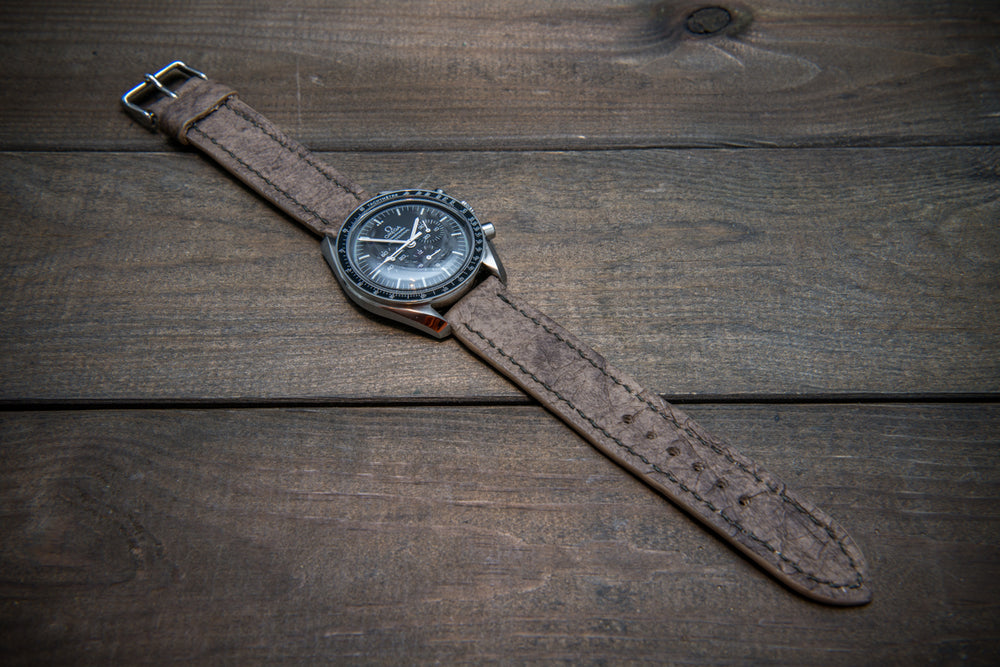 Leather watch strap (Mora Attilio), handmade in Finland -10-26 mm - finwatchstraps