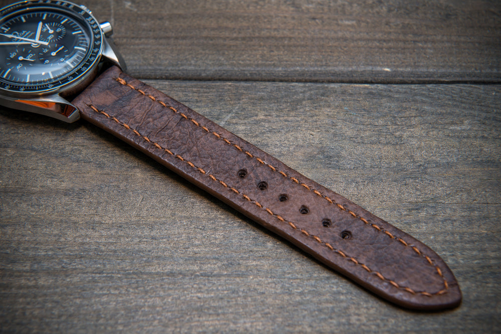 Leather watch strap (Mora Attilio), handmade in Finland -10-26 mm
