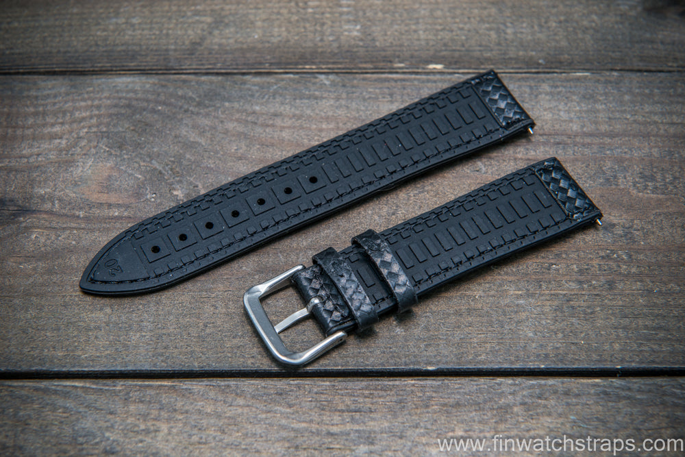 Carbon watch strap , waterproof - finwatchstraps