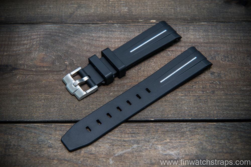 Omega rubber watch strap  20x18 mm - finwatchstraps