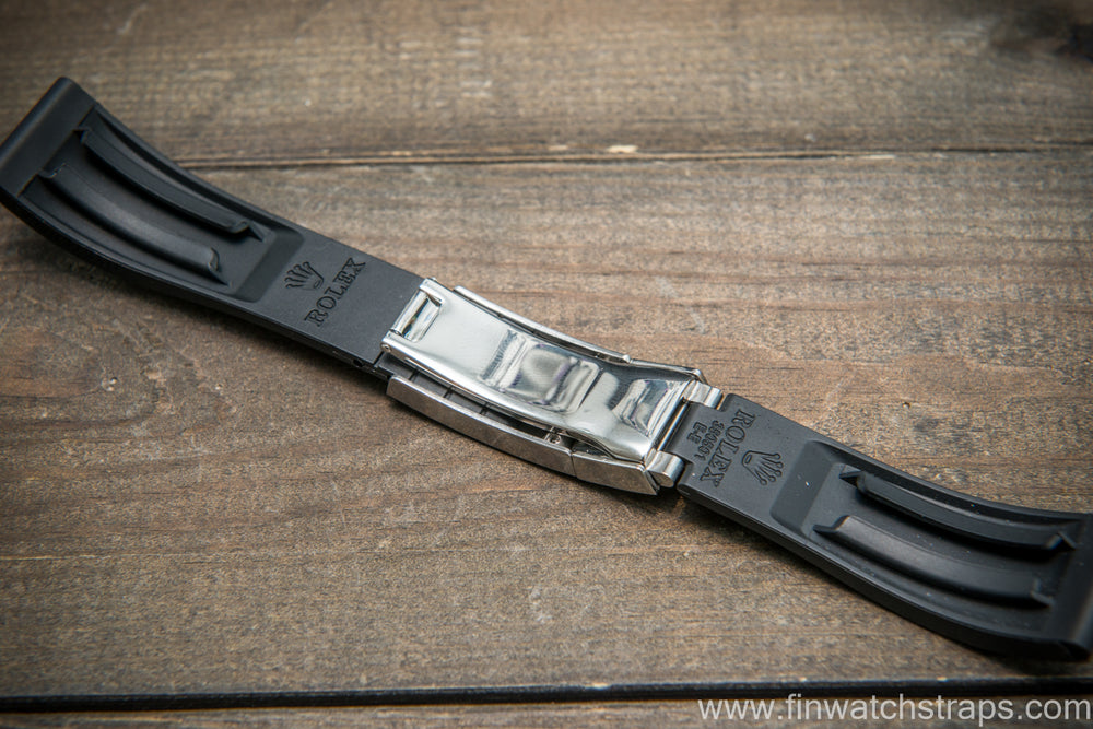 Rolex rubber watch strap  20x16 mm - finwatchstraps