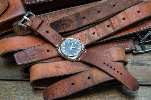 Vintage Swiss ammo watch band, thickness 4 mm