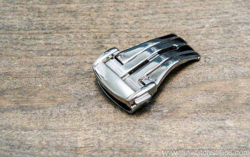 Stainless steel  deployement clasp for Omega watch, 18 mm - finwatchstraps