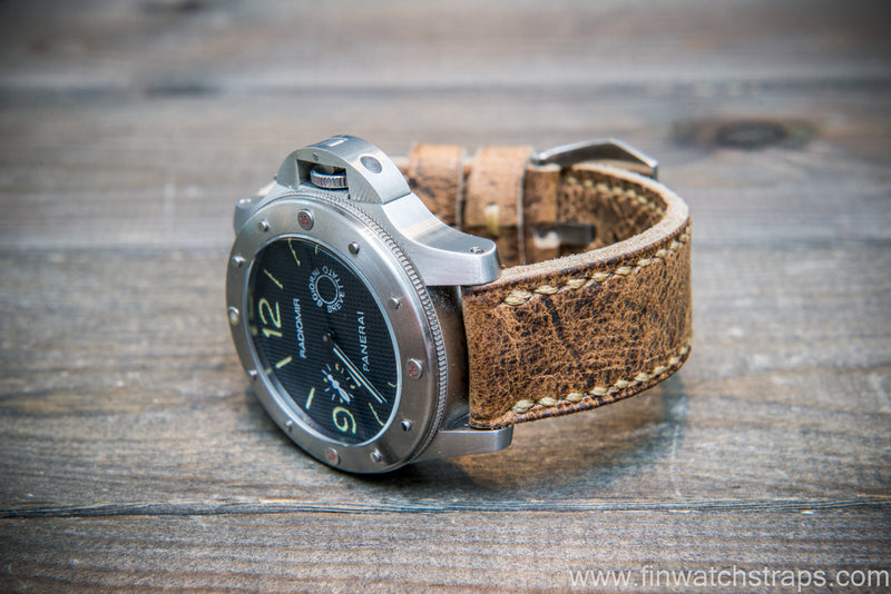 Wild Africal kudu leather watch strap. Handmade in Finland. - finwatchstraps