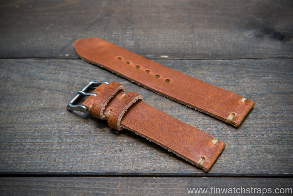 Horween Dublin Natural leather watch strap, handmade in Finland