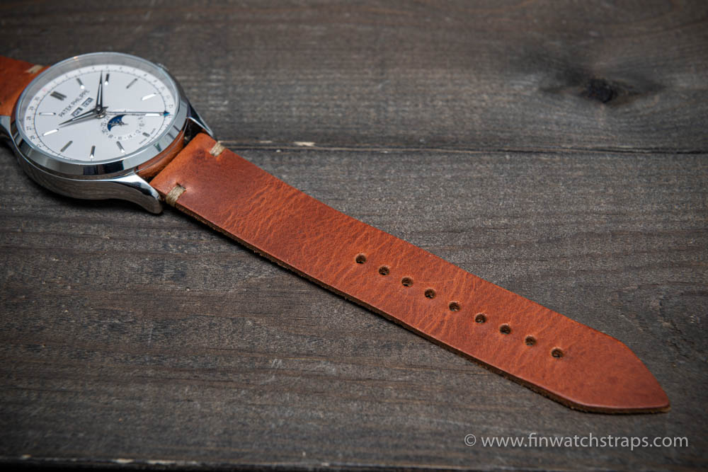 Badalassi Wax leather watch strap. Hand-made to order in Finland. 10-26 mm.