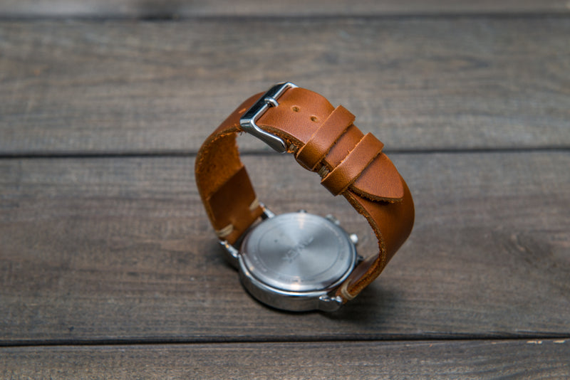 Whiskey Cavalier leather watch strap, handmade in Finland -10 mm,12 mm, 14 mm, 16mm, 17 mm, 18mm, 19 mm, 20mm, 21 mm, 22mm, 23 mm, 24mm, 25 mm, 26 mm.