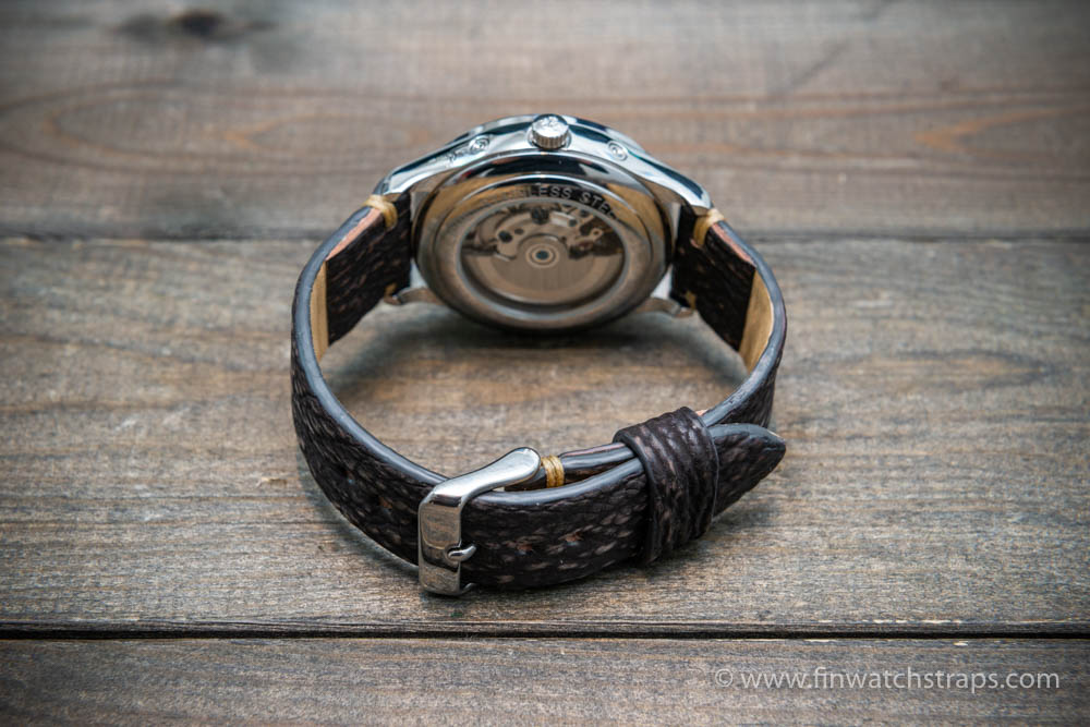 Shark leather watch strap