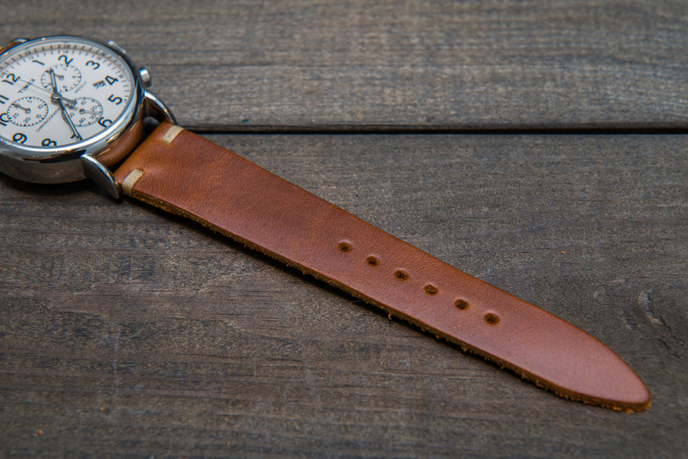 Whiskey Cavalier leather watch strap, handmade in Finland 16mm, 17 mm, 18mm, 19 mm, 20mm, 21 mm, 22mm, 23 mm, 24mm, 25 mm, 26 mm. - finwatchstraps