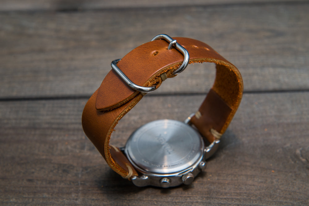 Whiskey Cavalier leather watch strap, handmade in Finland 16mm, 17 mm, 18mm, 19 mm, 20mm, 21 mm, 22mm, 23 mm, 24mm, 25 mm, 26 mm.
