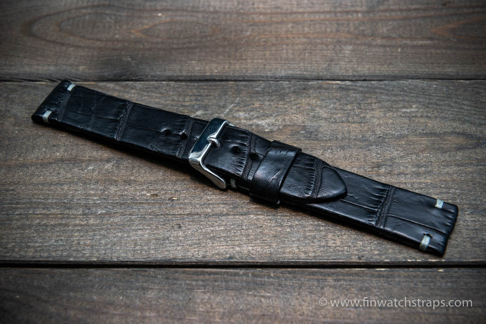 Alligator watch strap, handmade in Finland