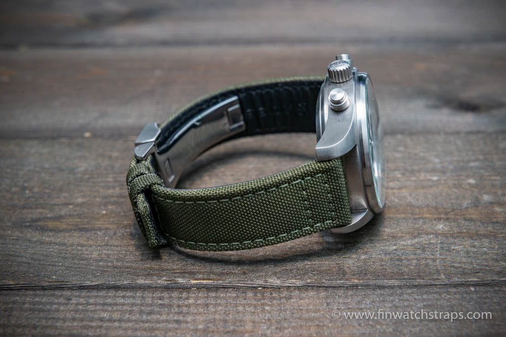 Canvas watch strap for IWC watch