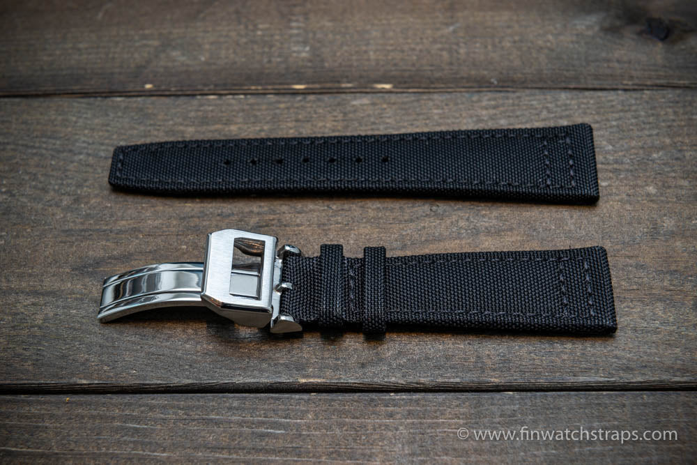 Canvas watch strap for IWC watch with folding clasp