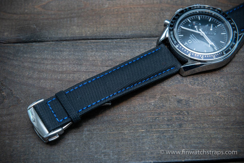 Omega watch strap, canvas with leather lining 22x20 mm, 20x18 mm