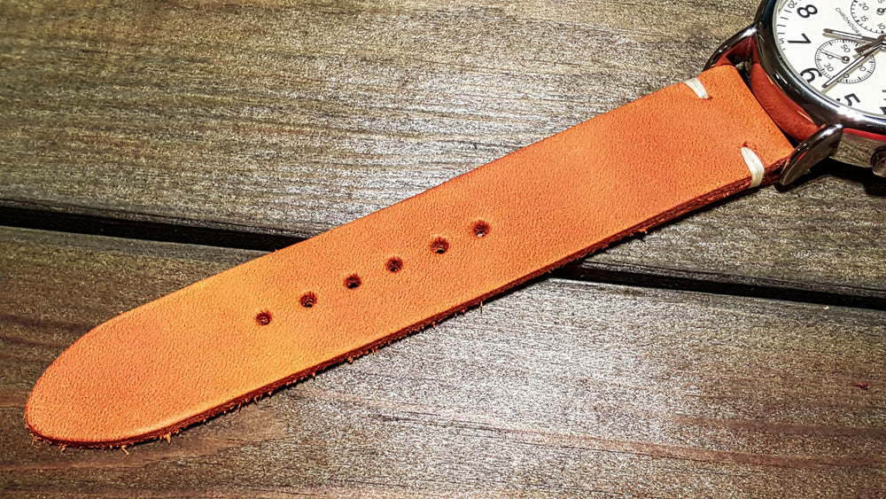 Italian leather watch band, Caramel color. Premium quality watch strap 16 mm, 17 mm, 18mm, 19 mm, 20 mm, 21 mm, 22mm, 23 mm, 24 mm - finwatchstraps