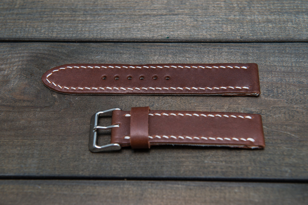 Horween Fireweed Italiano leather, hand stitched watch band,  handmade in Finland - 18mm, 19 mm, 20mm, 21 mm, 22mm, 23 mm, 24mm, 25 mm, 26 mm.