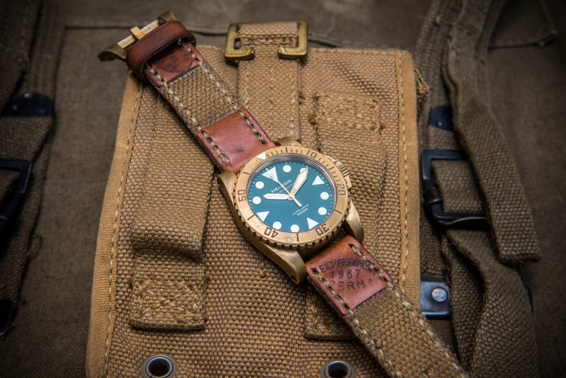 Vintage  Canvas ammo watch band, thickness 3 mm, made of Italian army surplus,  dates back to 1960th-1980th