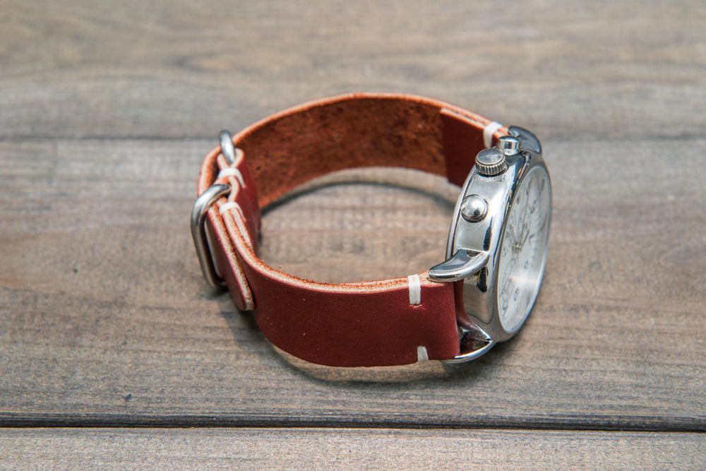 Canyon Latigo leather watch strap, handmade in Finland - 16mm, 17 mm, 18mm, 19mm, 20mm, 21 mm, 22mm, 23 mm, 24mm.