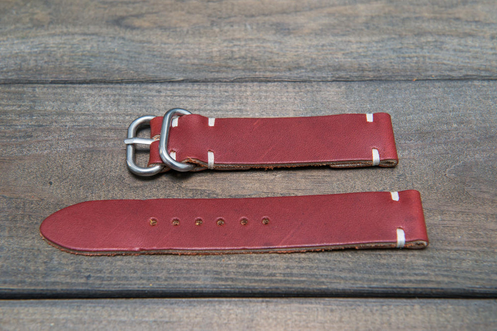 Canyon Latigo leather watch strap, handmade in Finland - 16mm, 17 mm, 18mm, 19mm, 20mm, 21 mm, 22mm, 23 mm, 24mm. - finwatchstraps