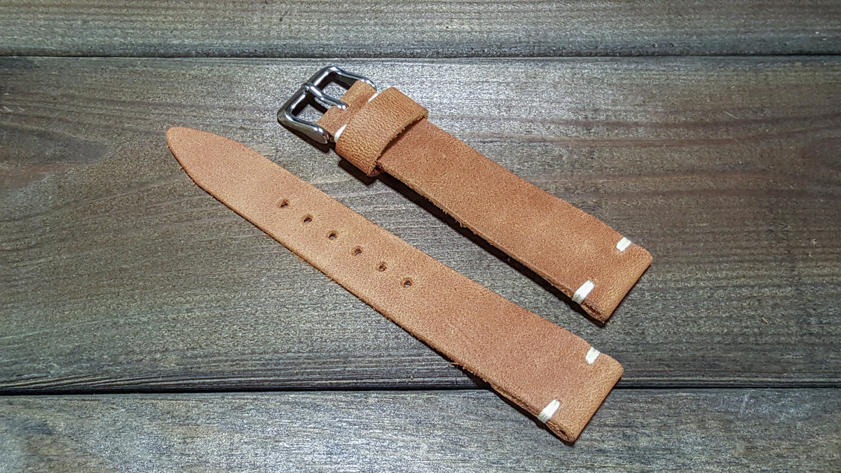 Honey Nuntucket, handmade in Finland. Tapered size: 26/22mm, 25/22 mm, 24/20mm, 23/20 mm, 22/18 mm, 21/18 mm, 20/16 mm, 19/16 mm - finwatchstraps