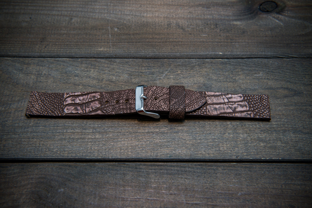 Ostrich legs leather watch straps/  handmade to order in Finland, 10-26 mm