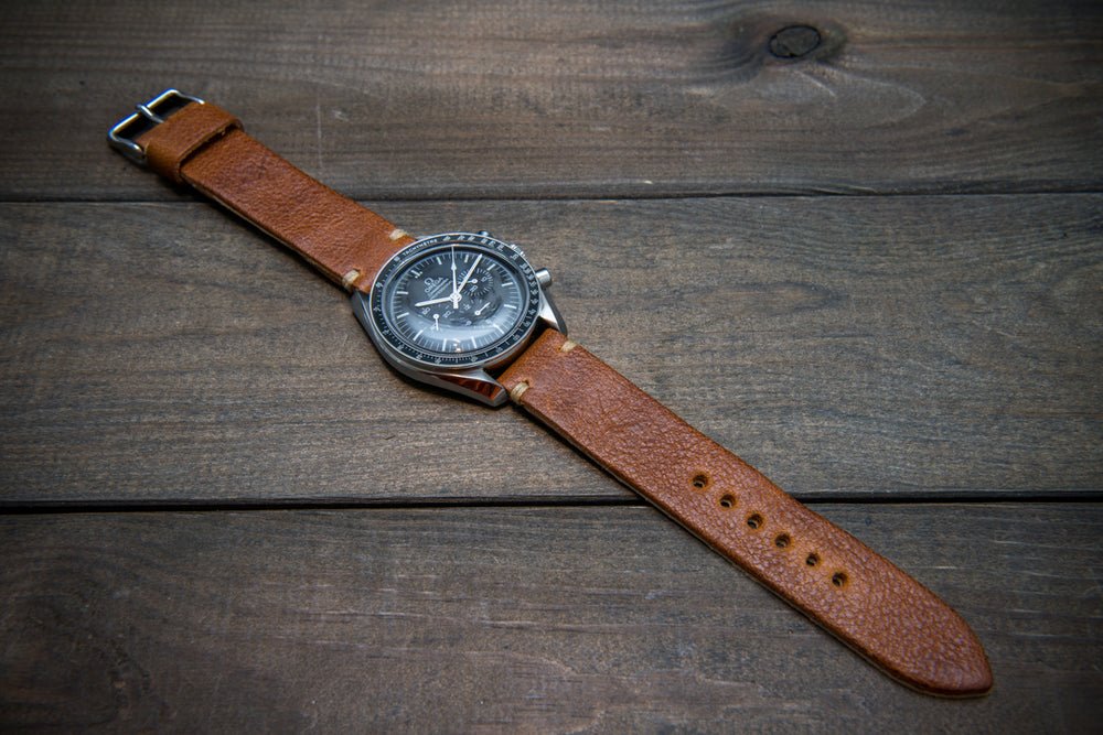 Buttero leather watch strap (english saddle), handmade in Finland, 10-26 mm - finwatchstraps