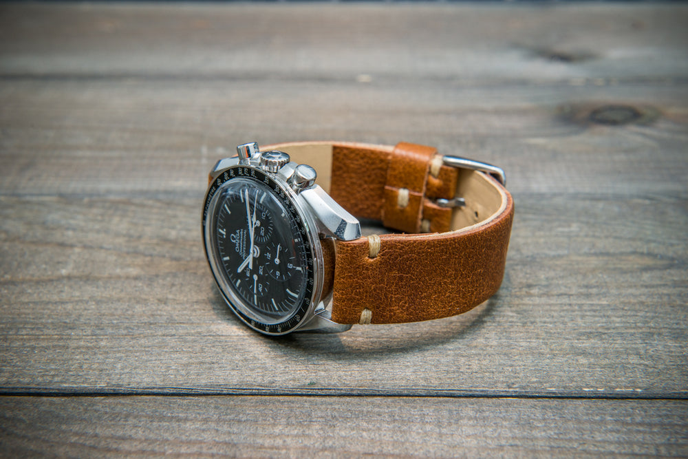 Buttero leather watch strap (english saddle), handmade in Finland, 10-26 mm