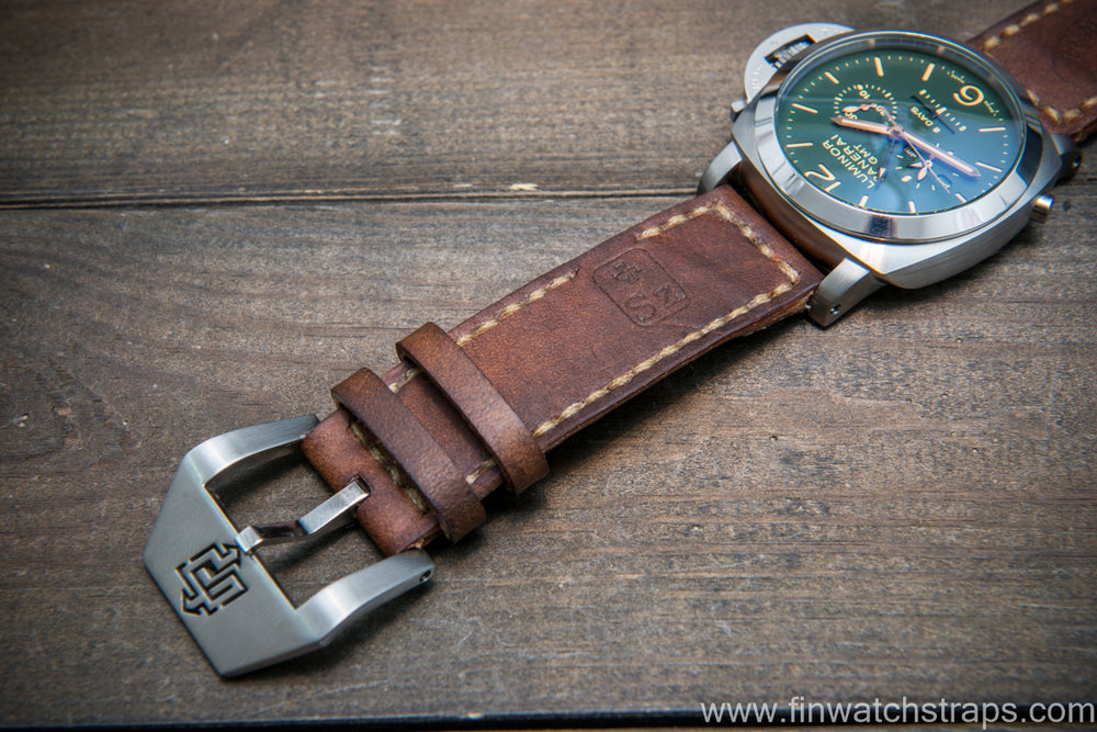 Vintage Swiss Ammo Watch band for Panerai, dates back to 1930th-1960th - finwatchstraps