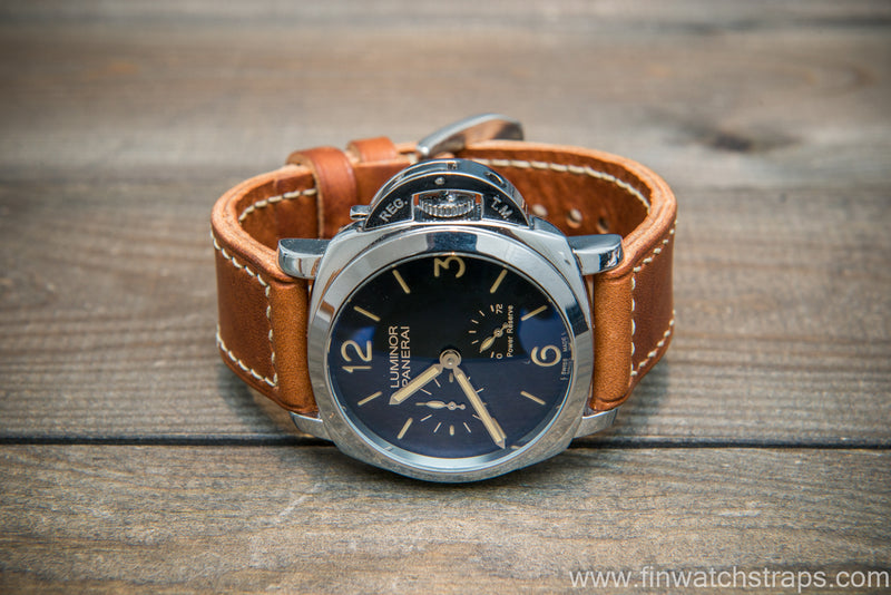 Badalassi Carlo Wax leather watch strap. Olmo color. Handmade in Finland.