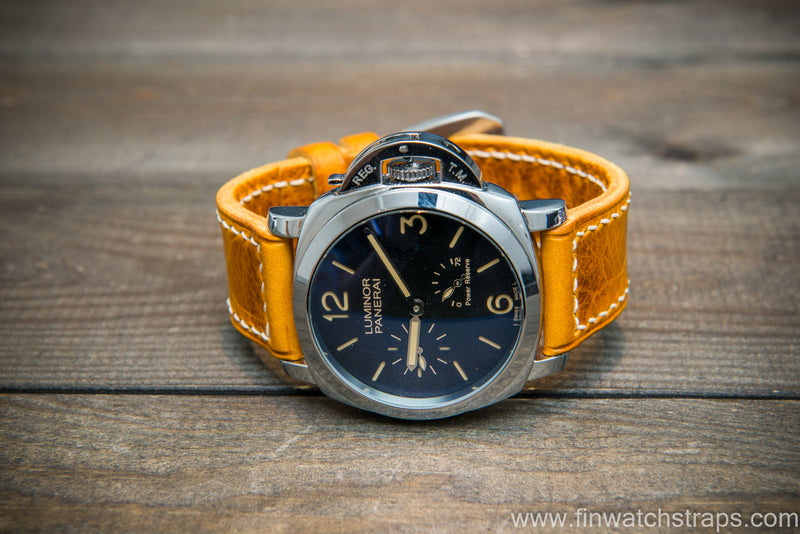 Badalassi Carlo Wax leather watch strap. Napoli color. Handmade in Finland.