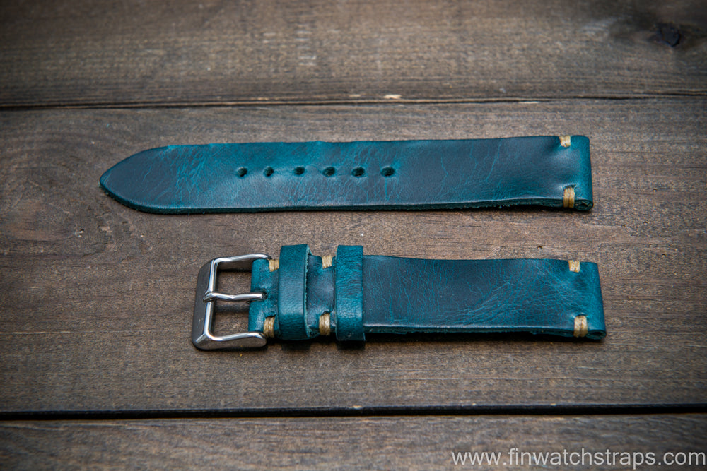 Badalassi Ortensia Wax leather watch strap. Hand-made to order in Finland. - finwatchstraps