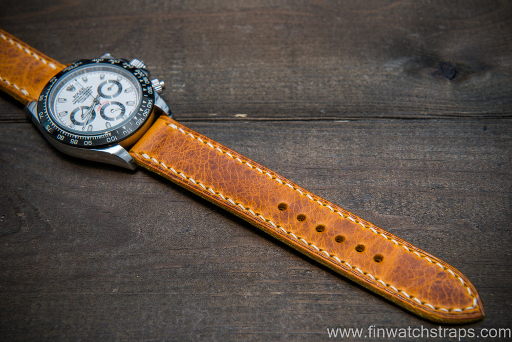 Badalassi Carlo Wax leather watch strap. Napoli color. Handmade in Finland. - finwatchstraps
