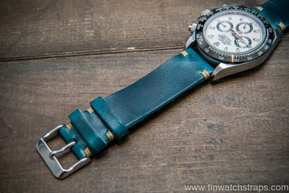 Badalassi Ortensia Wax 20 mm, 120-80 mm, leather watch strap. Hand-made to order in Finland. - finwatchstraps
