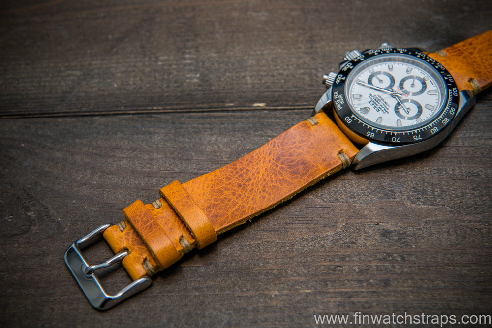 Badalassi Napoli Wax leather watch strap. Hand-made to order in Finland. - finwatchstraps