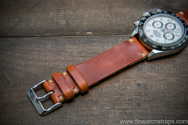 Badalassi Olmo Wax leather watch strap. Hand-made to order in Finland.
