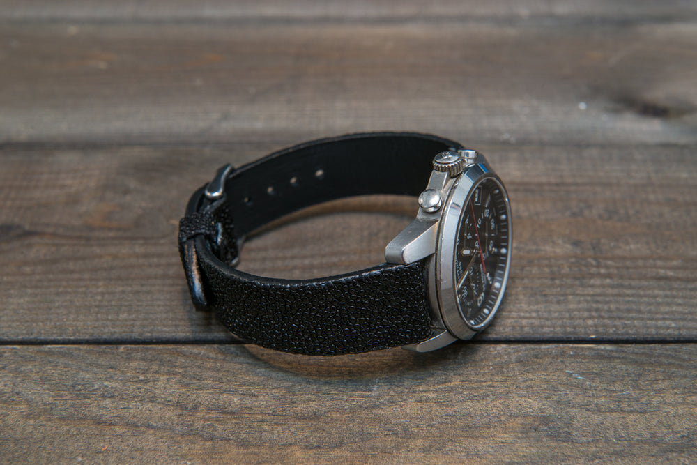 Stingray leather watch strap - finwatchstraps