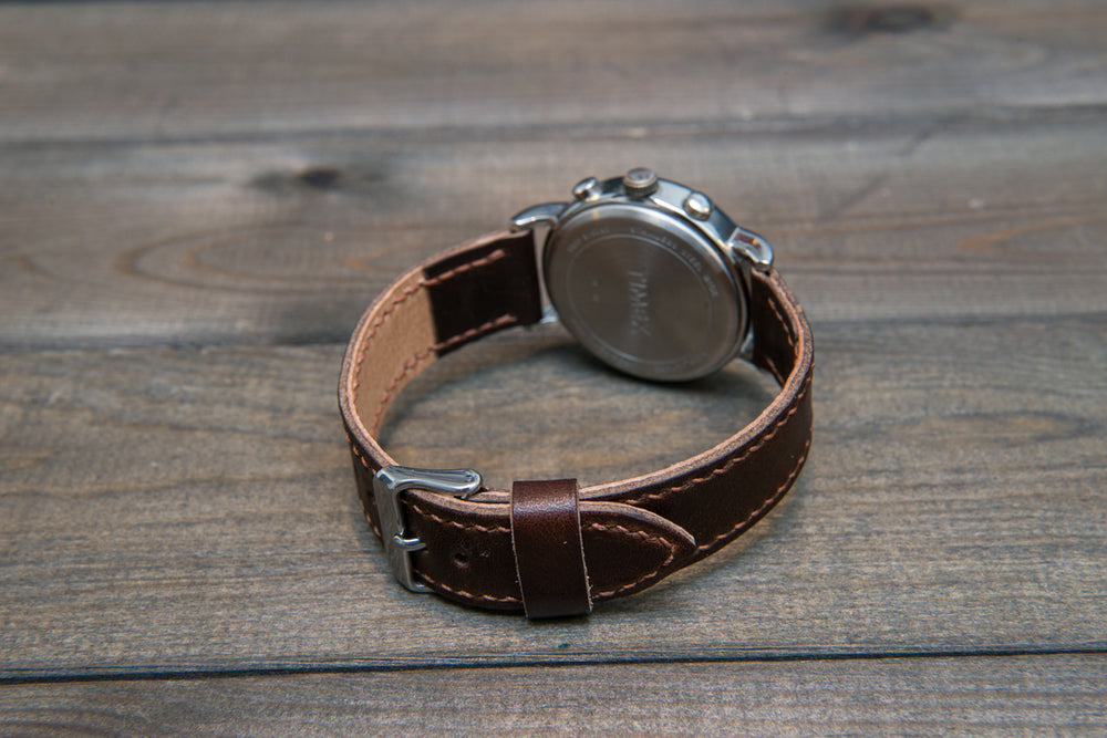 Buttero leather watch strap, handmade in Finland - 16mm, 17 mm, 18mm, 19 mm, 20mm, 21mm, 22mm, 23 mm,  24mm, 25 mm, 26 mm. - finwatchstraps