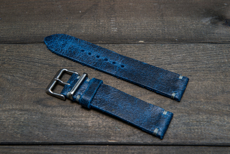 Suede vintage leather watch strap (Crazy cow), handmade in Finland - 16mm, 17 mm, 18mm, 19 mm, 20mm, 21mm, 22mm, 23 mm,  24mm, 25 mm, 26 mm.