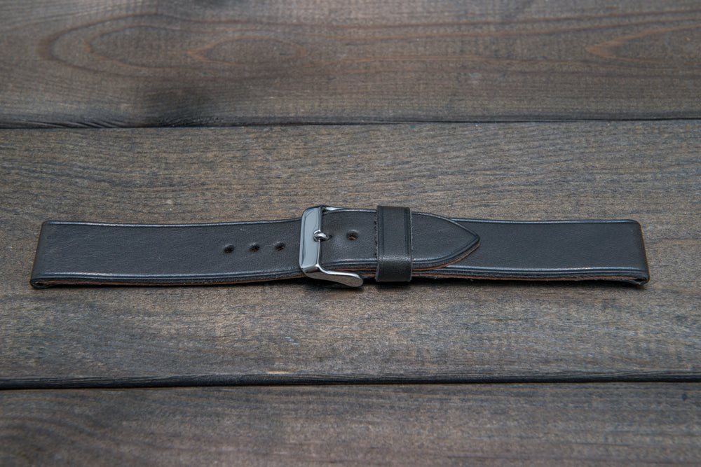 Buttero leather watch strap (Gray), handmade in Finland - 10 mm, 12 mm, 14 mm, 16mm, 17 mm, 18mm, 19 mm, 20mm, 21mm, 22mm, 23 mm,  24mm, 25 mm, 26 mm. - finwatchstraps