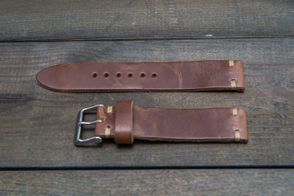 Tan Horween  Chxl, horsebutt, leather watch strap, handmade in Finland