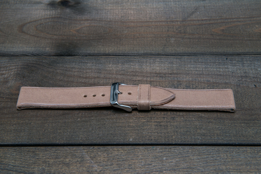 Buttero leather watch strap (Antique beige), handmade in Finland - 10 mm, 12 mm, 14 mm, 16mm, 17 mm, 18mm, 19 mm, 20mm, 21mm, 22mm, 23 mm,  24mm, 25 mm, 26 mm. - finwatchstraps