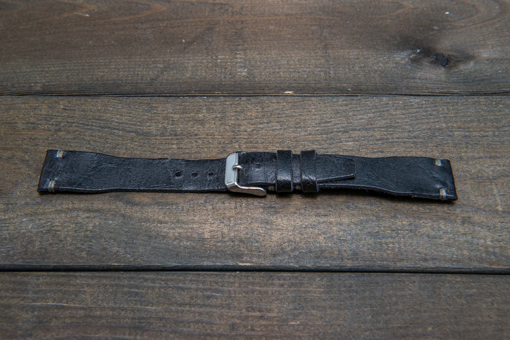 Pilot Leather Watch Strap, 20x16 mm, Aviator model, Military style tapered model - finwatchstraps