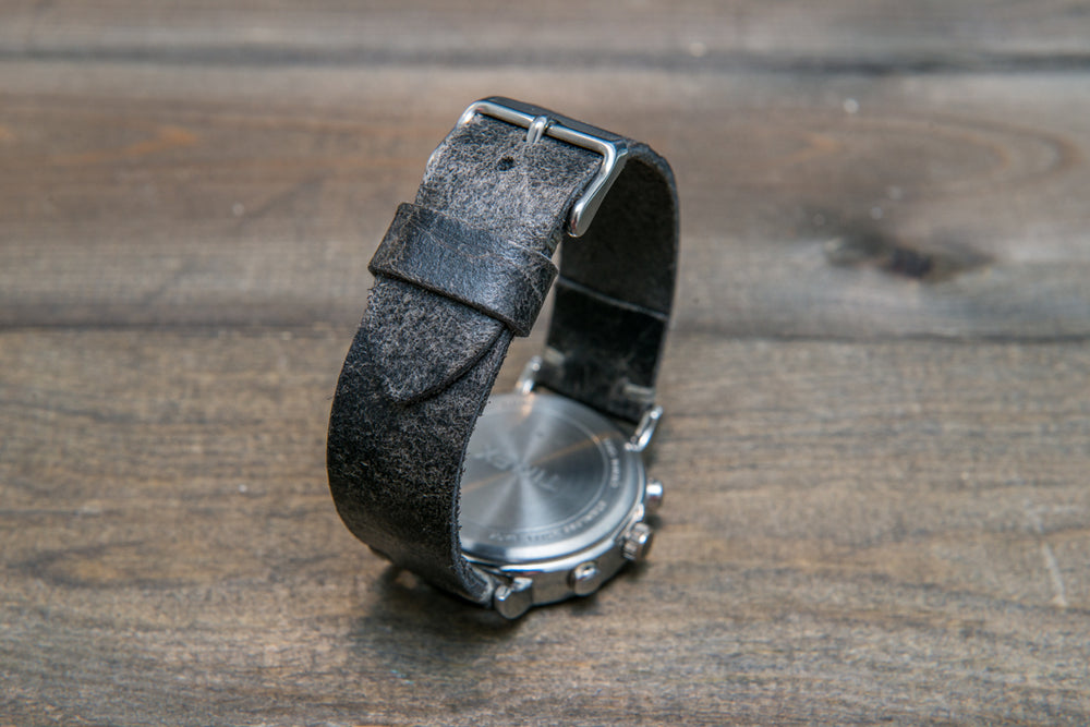 Suede vintage leather watch strap (Crazy cow), handmade in Finland - 10mm, 12 mm, 14 mm, 16mm, 17 mm, 18mm, 19 mm, 20mm, 21mm, 22mm, 23 mm,  24mm, 25 mm, 26 mm. - finwatchstraps
