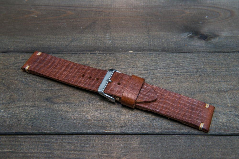 Italian bull  tapered leather watch strap 4 mm thick, Torre Bull, handmade in Finland -  16mm, 17 mm, 18mm, 19 mm, 20mm, 21mm, 22mm, 23 mm, 24mm, 25 mm, 26 mm.